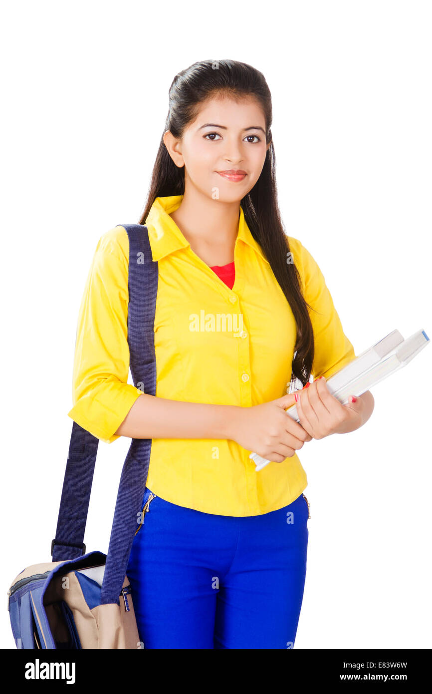 indian college girl standing stock photo: 73844369 - alamy