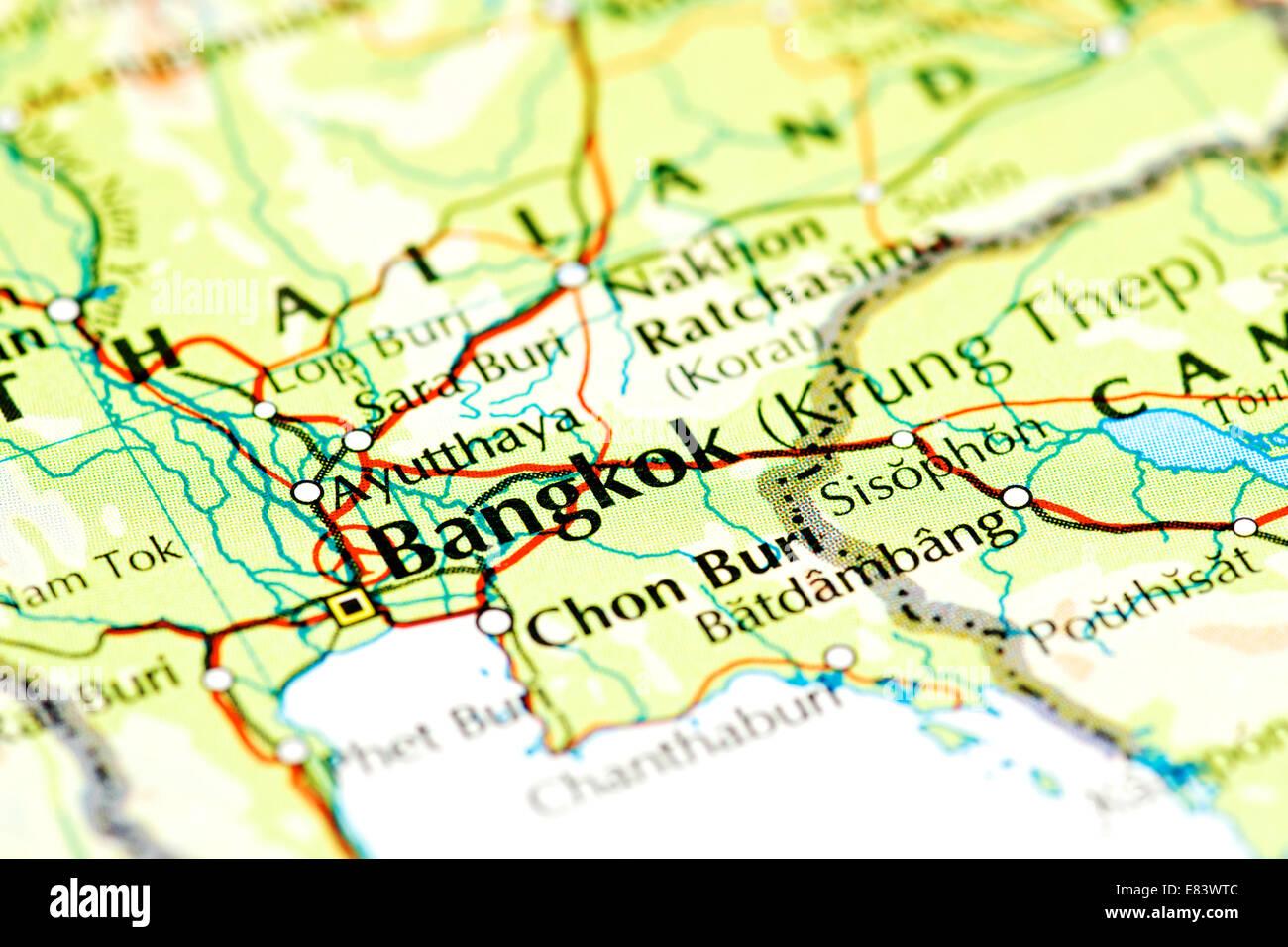 Close up of map of Bangkok, Thailand Stock Photo: 73844860 - Alamy