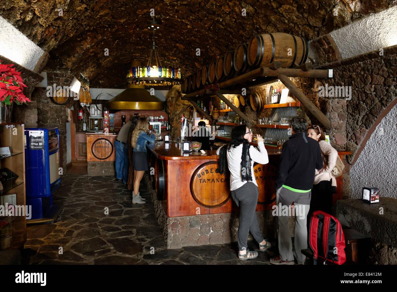 Bodegas Tamanca bar, San Nicolás, La Palma, Canary Islands, Spain - Stock Image