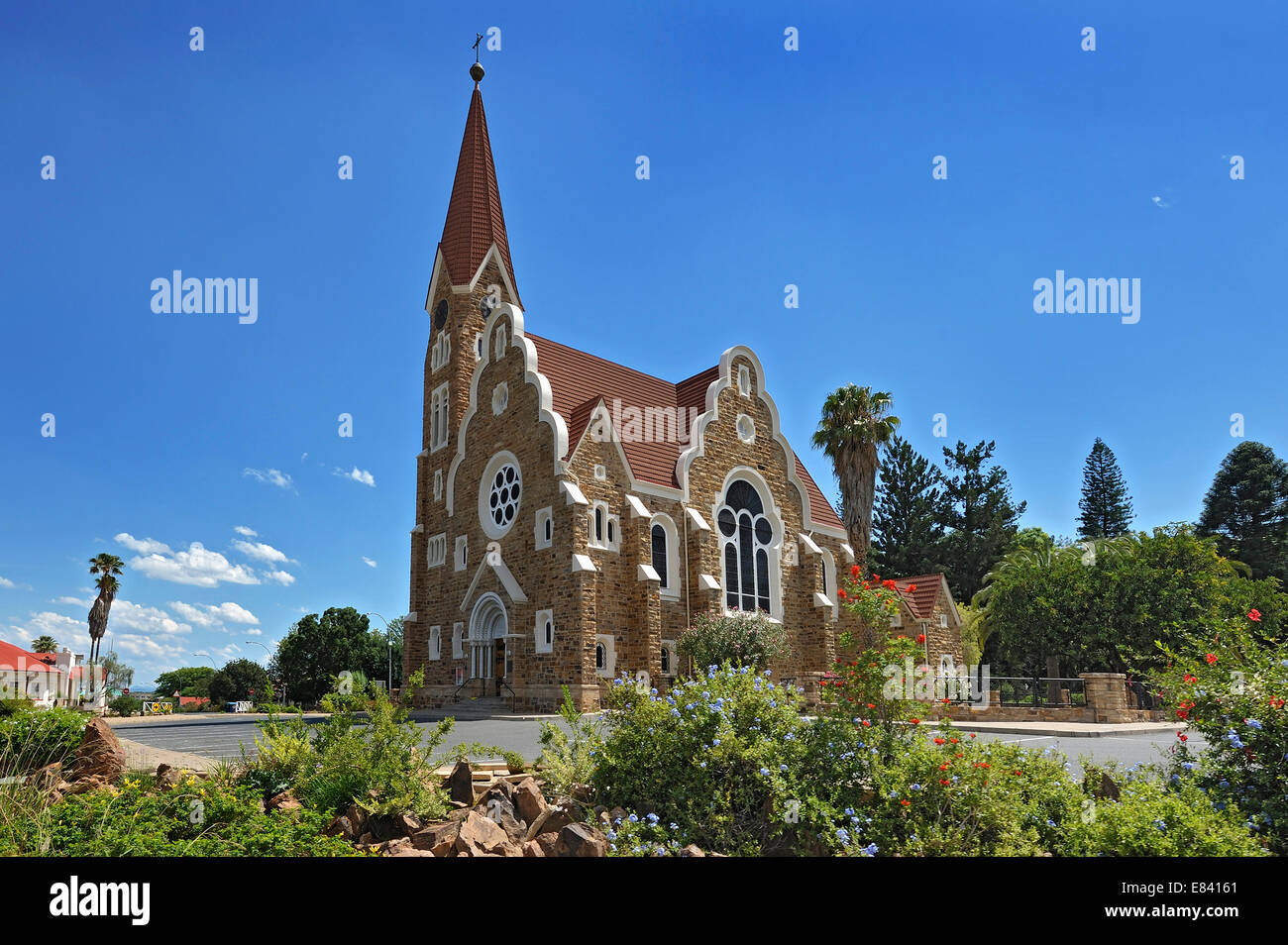 Protestant Church of Christ, 1896, Windhoek, Namibia - Stock Image