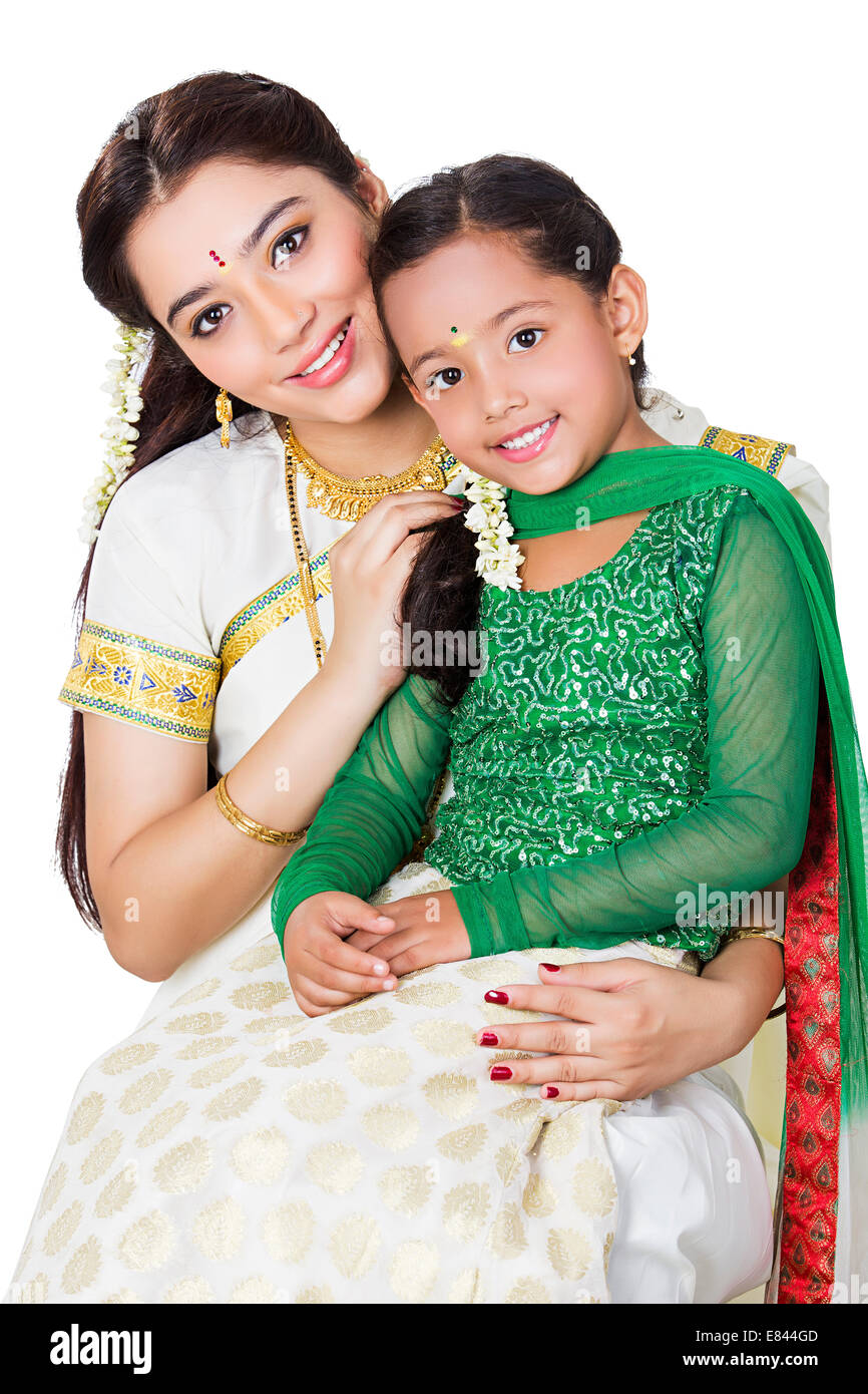 South Indian mother child care Stock Photo: 73850125 - Alamy