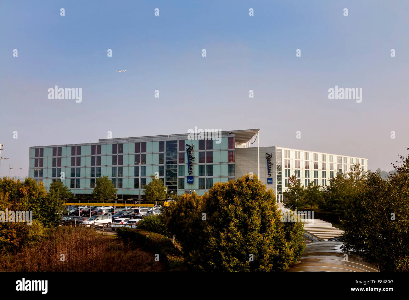 Radisson Blu hotel at Stansted Airport England UK - Stock Image