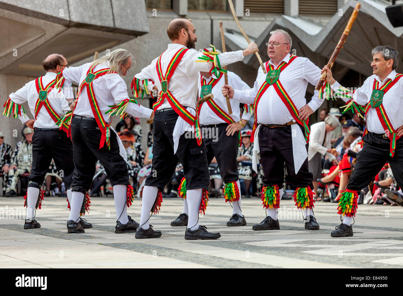 Chingford Morris Perform At The London Pearly Kings & Queens Society Costermongers Harvest Festival, London, - Stock Image