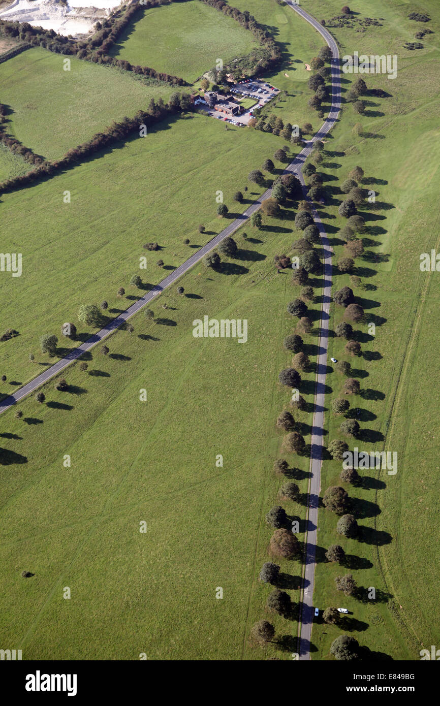 aerial view of Beverley Westwood, East Yorkshire, UK - Stock Image