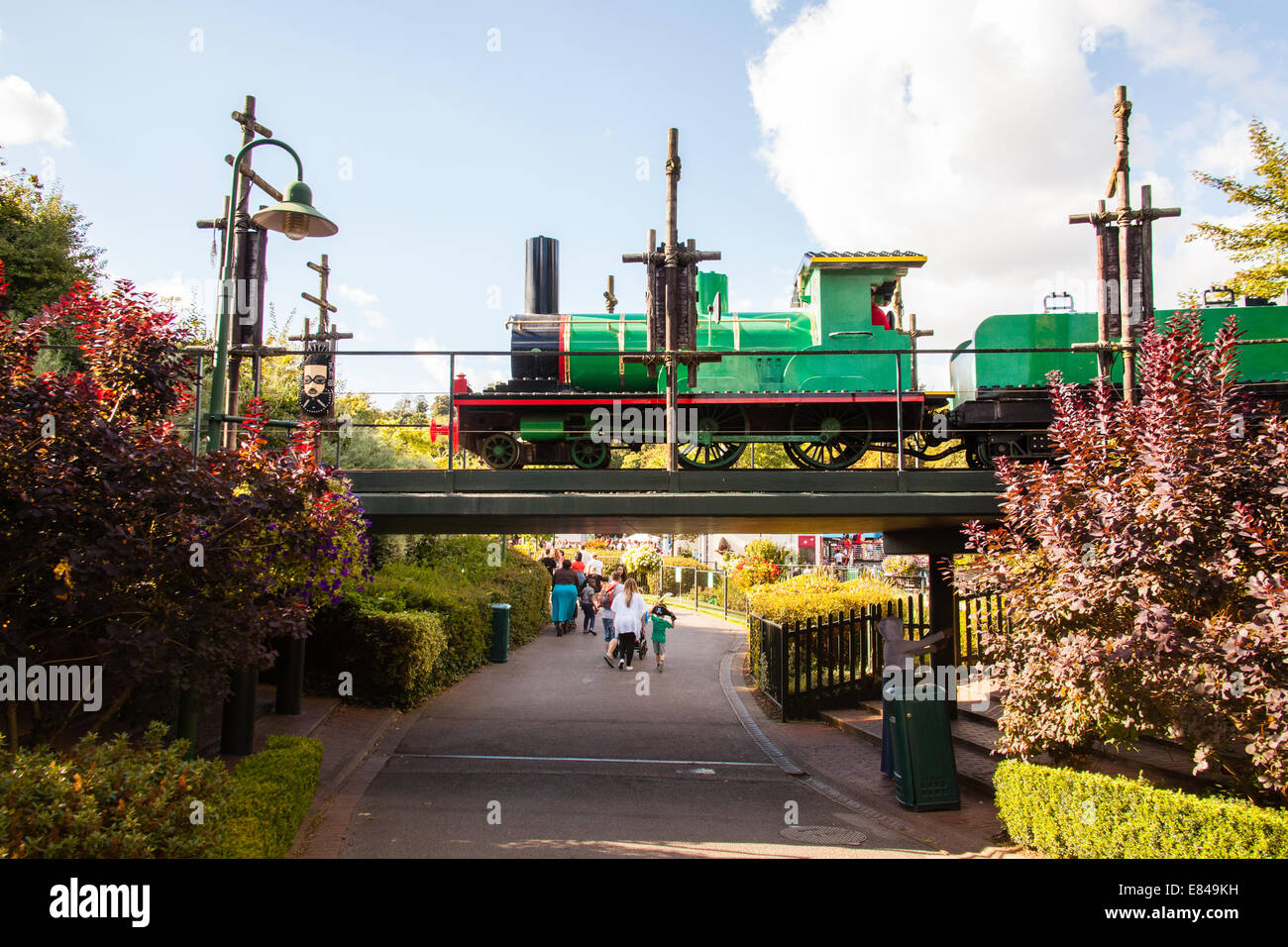 Orient Expedition steam train ride at Legoland Windsor, England - Stock Image
