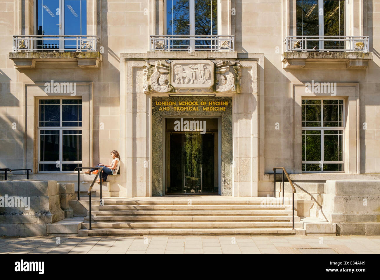 Entrance to the London School of Hygiene and Tropical Medicine University of London UK Stock Photo