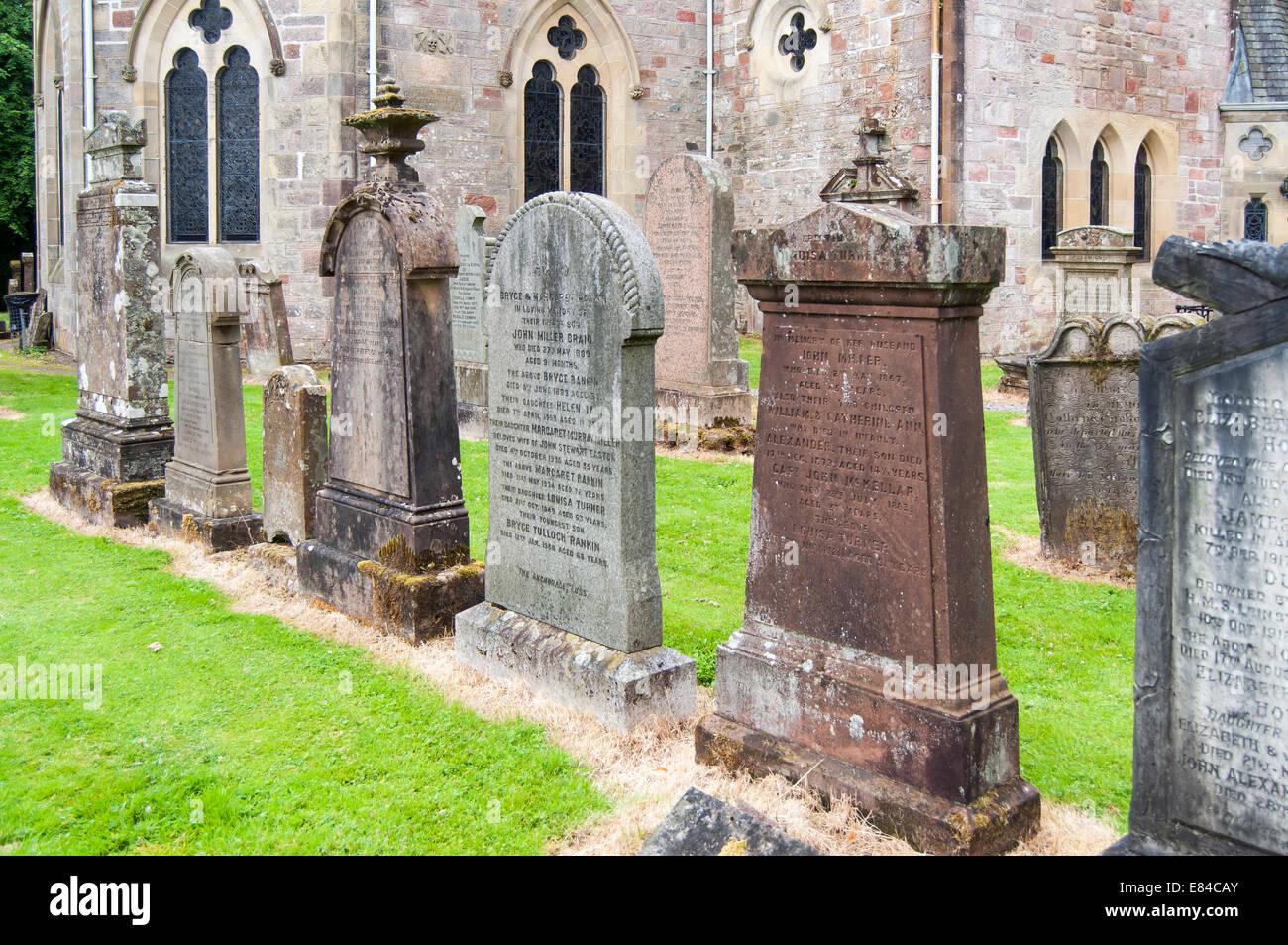 Luss Cemetery, Scotland, UK - Stock Image