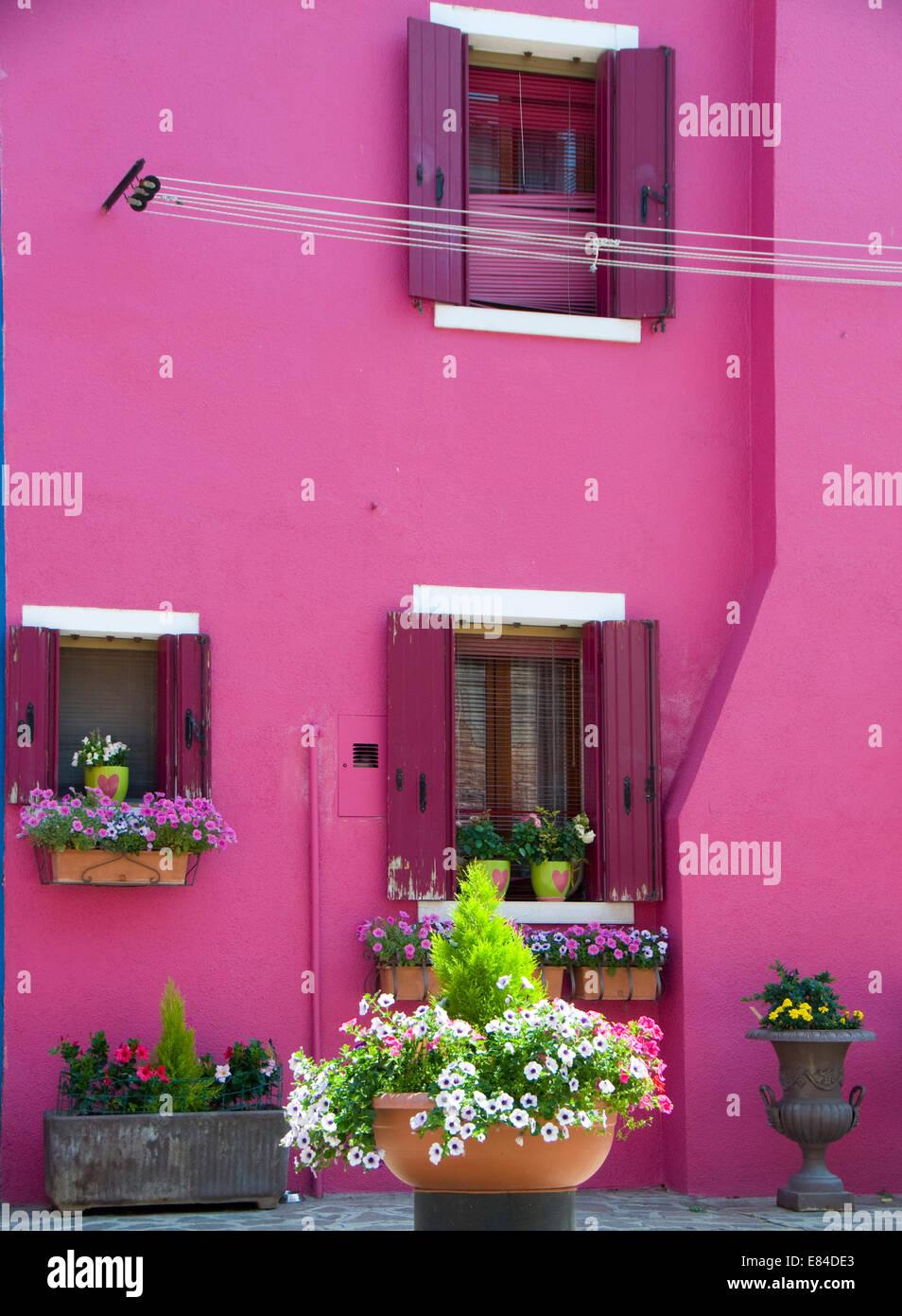 Burano Purple Wall Color House Stock Photos & Burano Purple Wall ...