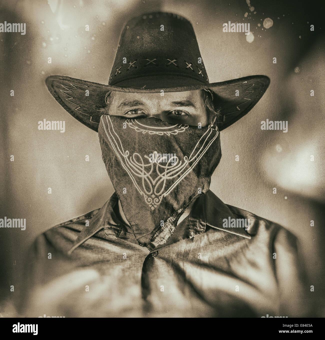 d7a444b9c3b Old West Cowboy Bandit 2 Stock Photo  73857654 - Alamy
