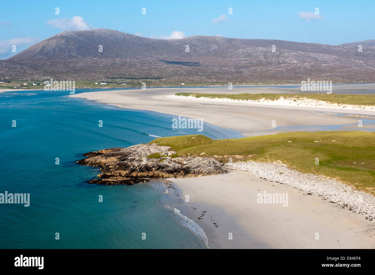 Luskentyre Beach on the west coast of the Isle of Harris in the Outer Hebrides. - Stock Image