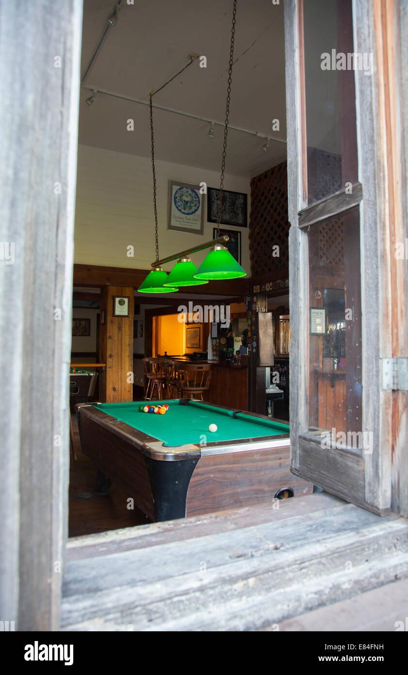 Pool Table In Billiard Hall Bar In Key West The Florida Keys Stock - Pool table key