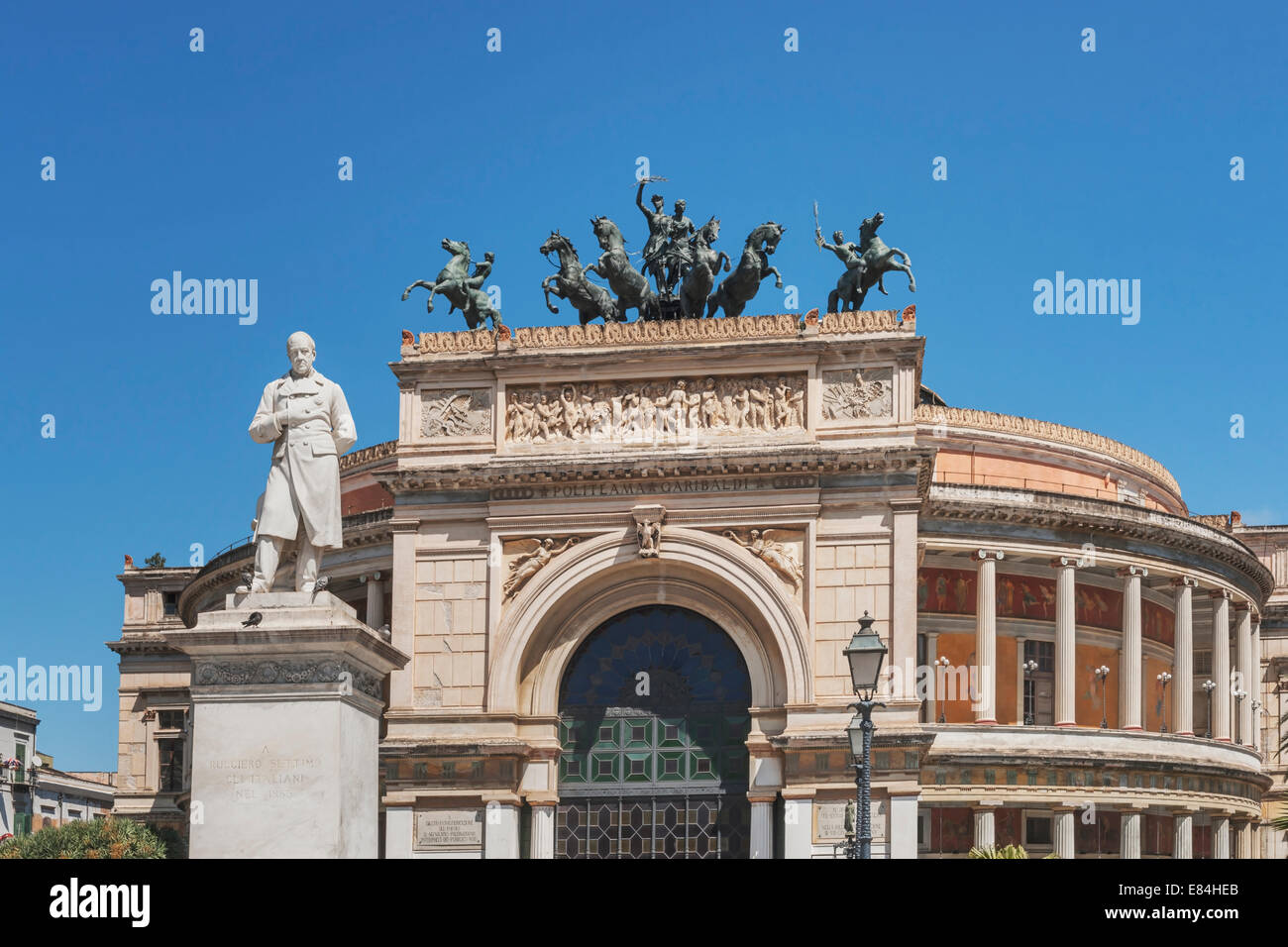 The Teatro Politeama Garibaldi is a theater building in Palermo, Sicily, Italy, Europe Stock Photo