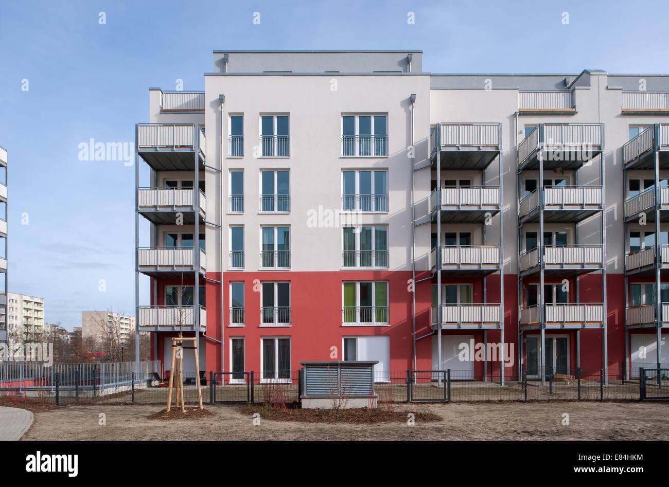 Berlin, Germany, new construction of rental housing in Berlin-Pankow Stock Photo