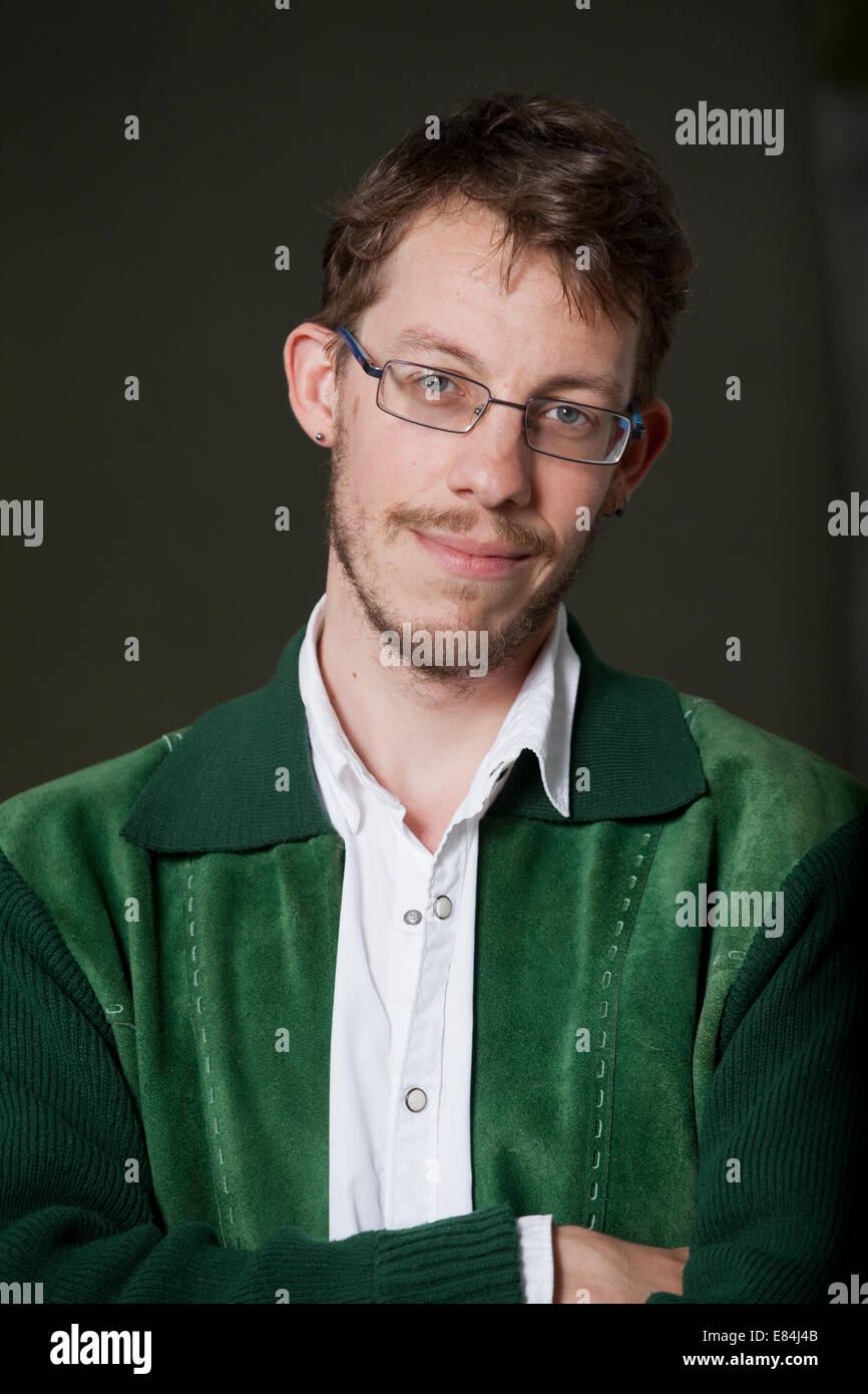 Harry Giles, young British poet, shortlisted for the 2014 Edwin Morgan Poetry Award at the Edinburgh International - Stock Image
