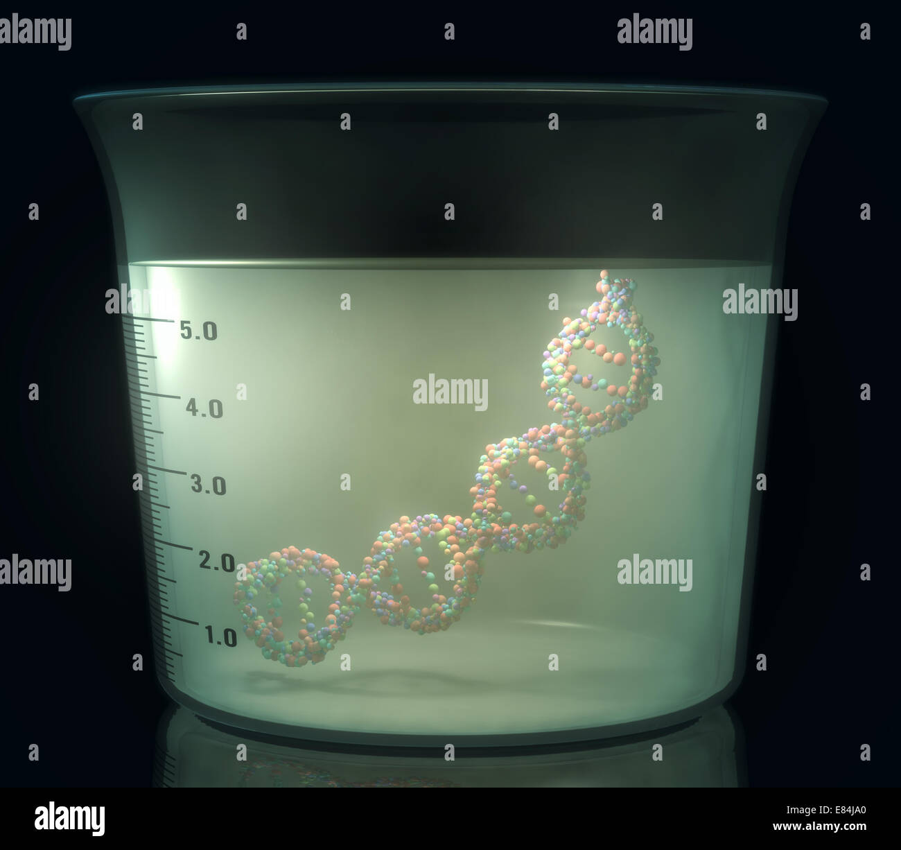 Test tube with dna inside. Concept of manipulation of the genetic code. Clipping path included. - Stock Image