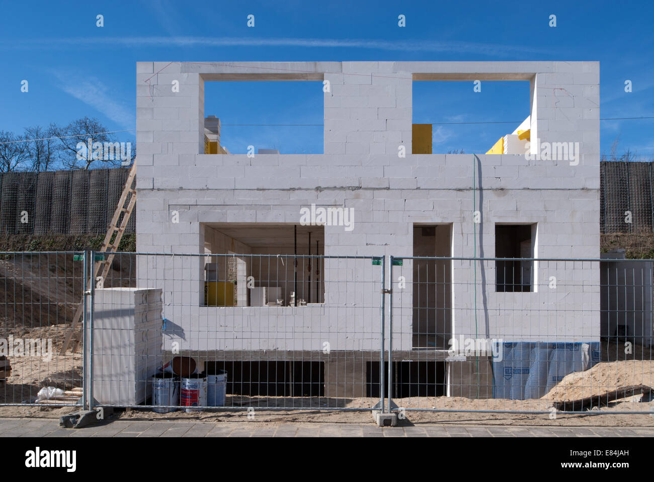 Berlin, Germany, construction of a family house in Berlin-Grunewald Stock Photo