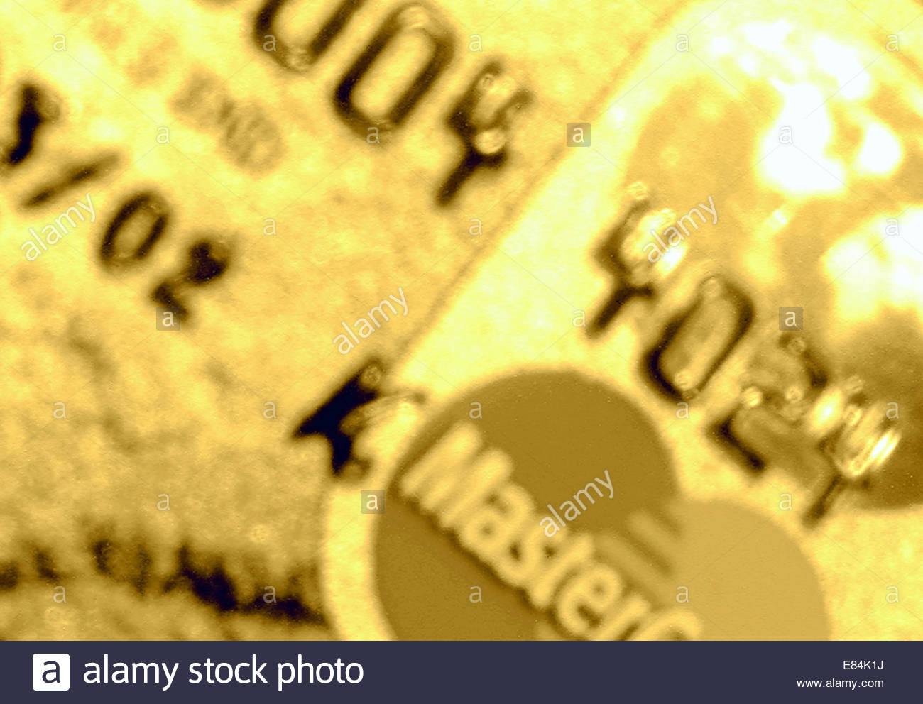 Credit card close-up with 'pop art' filter - Stock Image