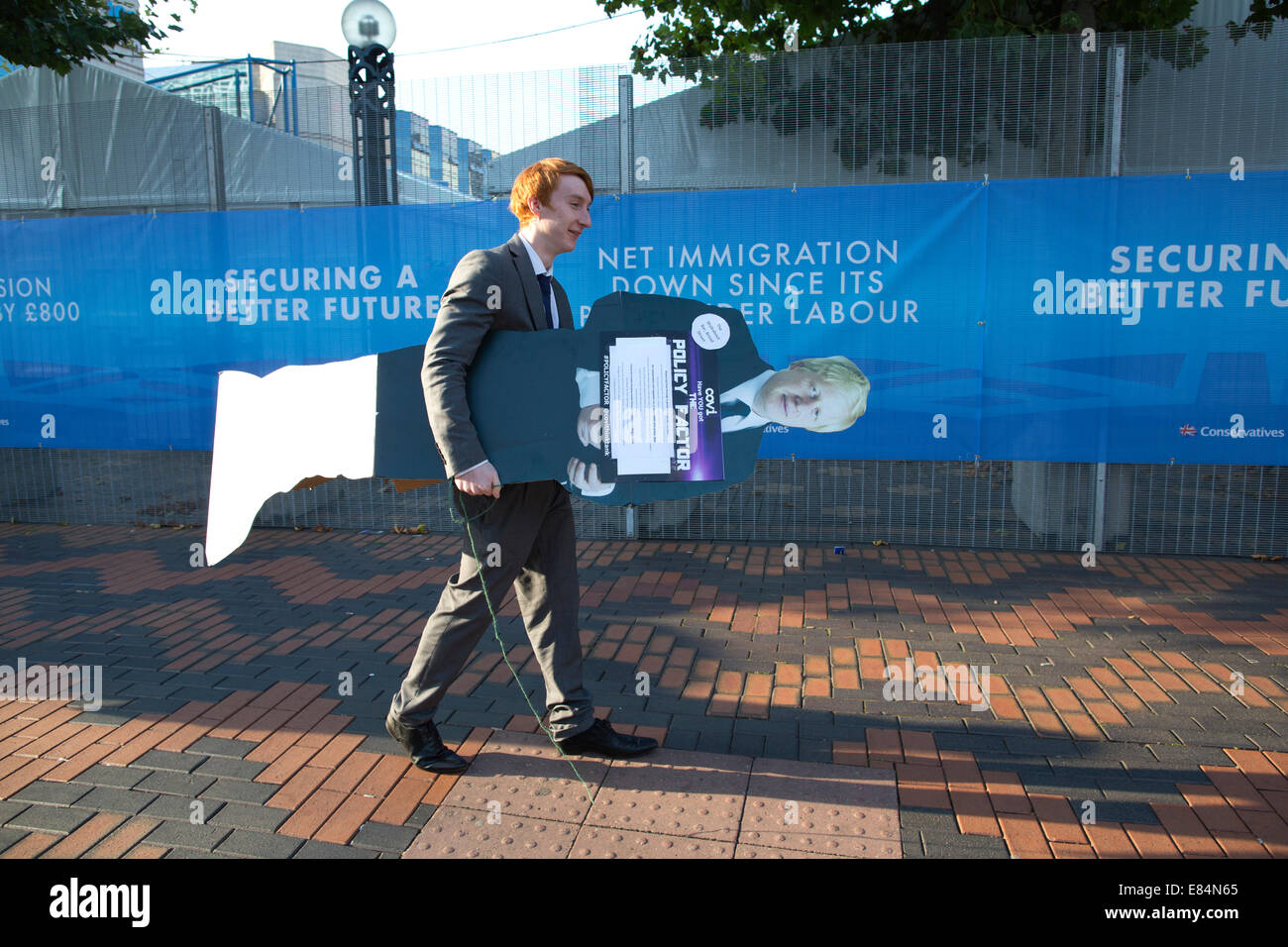 Birmingham, UK. 30th September, 2014. Conservative Party Conference, Birmingham, UK 30.09.2014 Picture shows a Tory - Stock Image