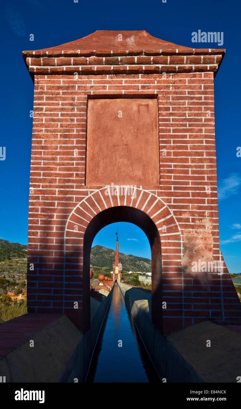 19th Century Eagle Water Aqueduct (Acueducto del Águila), Close to Nerja, Costa del Sol, Malaga Province, Andalucia, - Stock Image