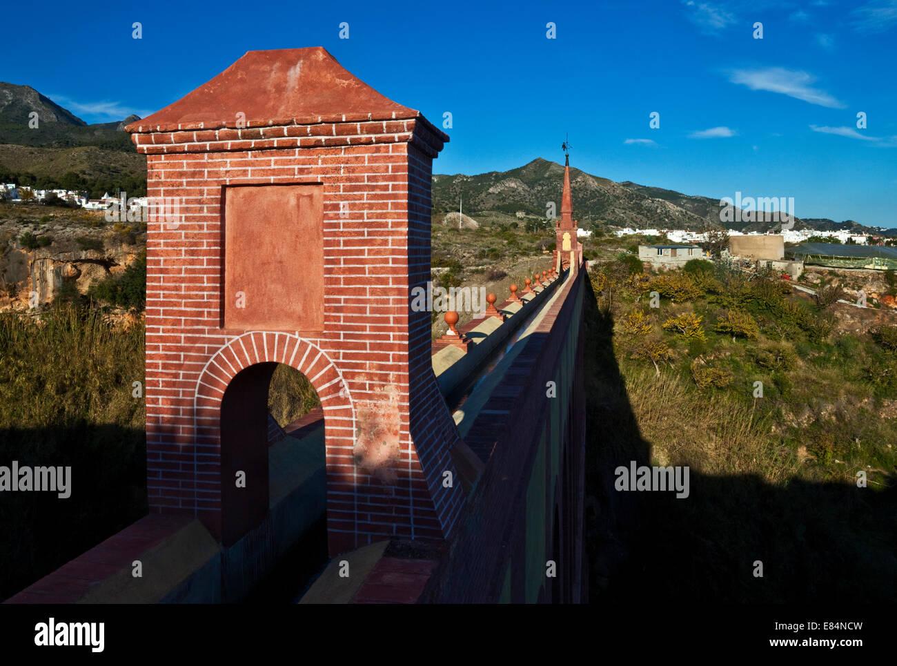 19th C Eagle Water Aqueduct (Acueducto del Águila),  Between Nerja, Costa del Sol, Malaga Province, Andalucia, - Stock Image