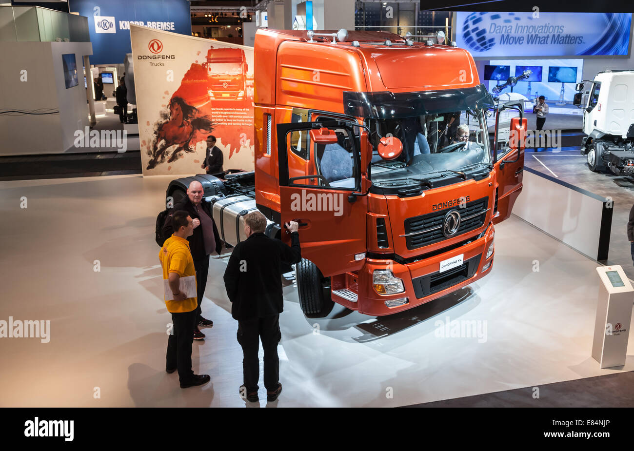 New chinese DONGFENG KL truck at the 65th IAA Commercial Vehicles Fair 2014 in Hannover, Germany - Stock Image