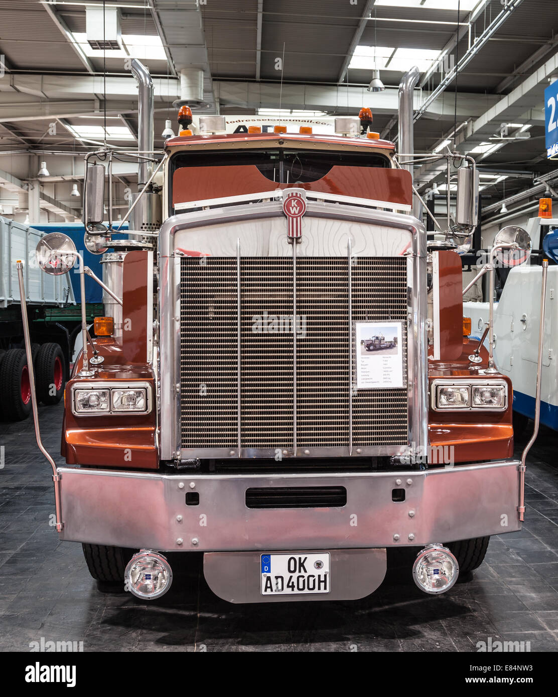 Historic Kenworth truck T 800 from 1983 at the 65th IAA Commercial Vehicles Fair 2014 in Hannover, Germany - Stock Image