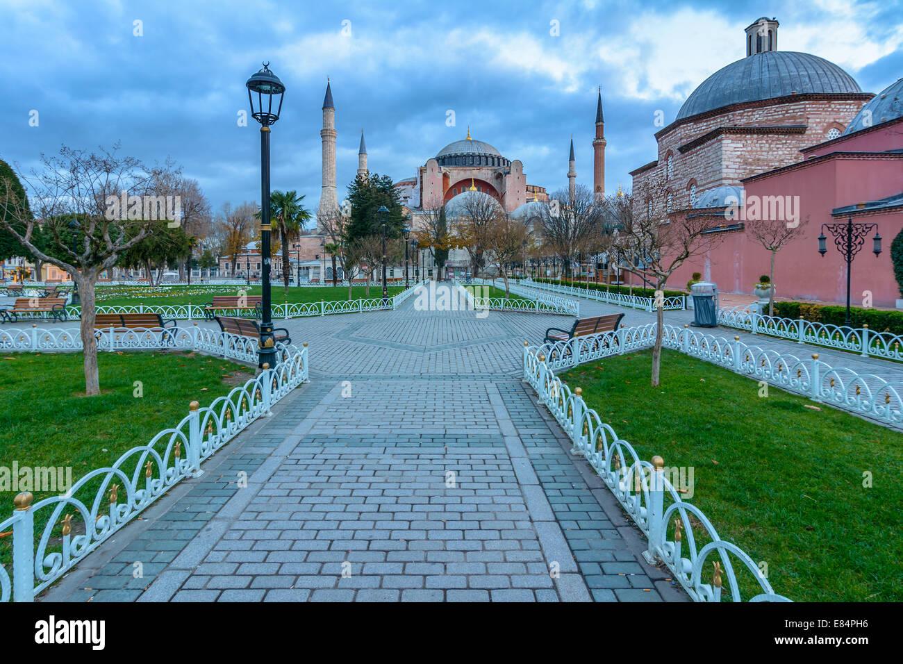 Hagia Sofia church in Istanbul, Constantinople, Turkey Stock Photo