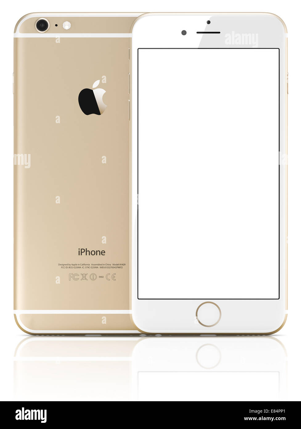 timeless design e2f14 9fcc1 Apple Gold iPhone 6 Plus with white blank screen.The new iPhone with ...