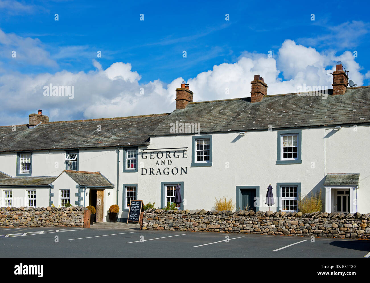 The George and Dragon pub in Clifton, Cumbria, England UK - Stock Image