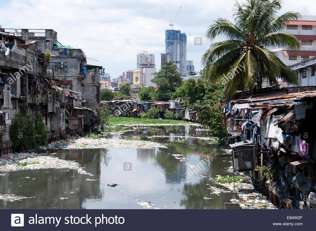 ghetto in the muslim district in manila in the philippines stock