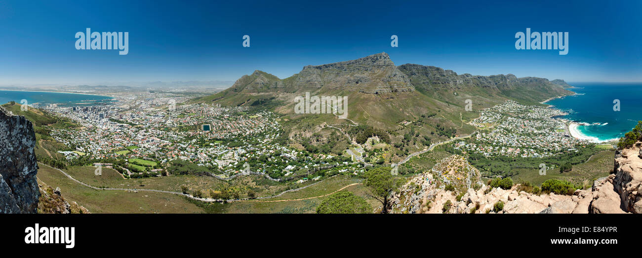 Panoramic view of the city of Cape Town in South Africa. - Stock Image