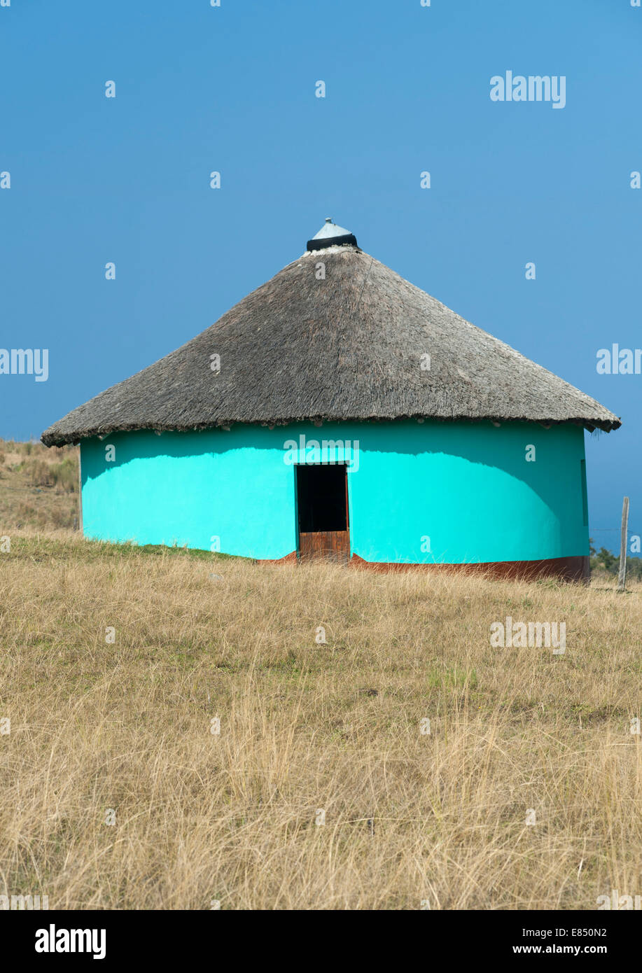 Xhosa hut in the Eastern Cape Province of South Africa. - Stock Image