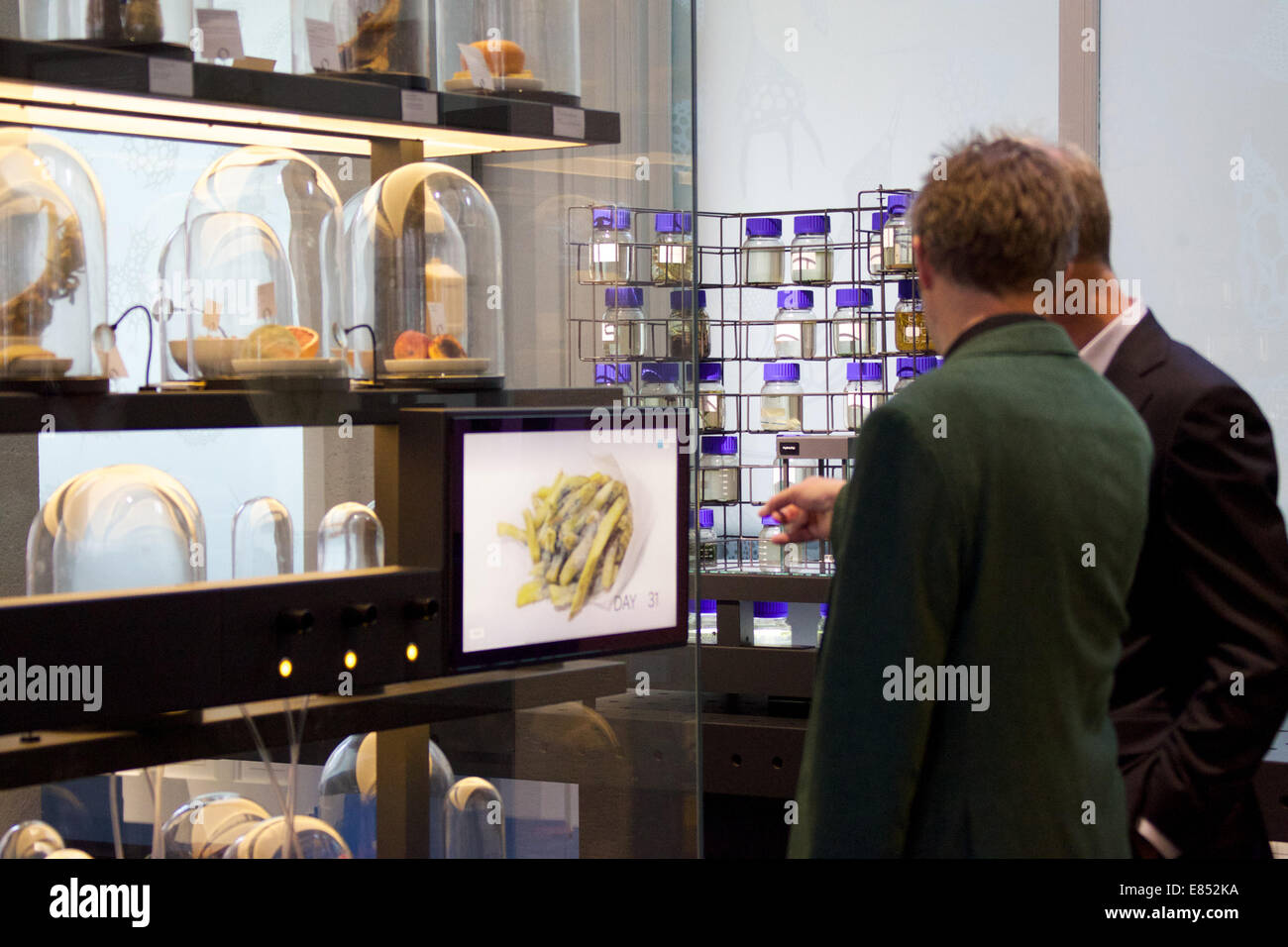 Amsterdam, Netherlands. 30th Sep, 2014. People visit the Micropia Museum, which is a museum of micro-organisms, - Stock Image