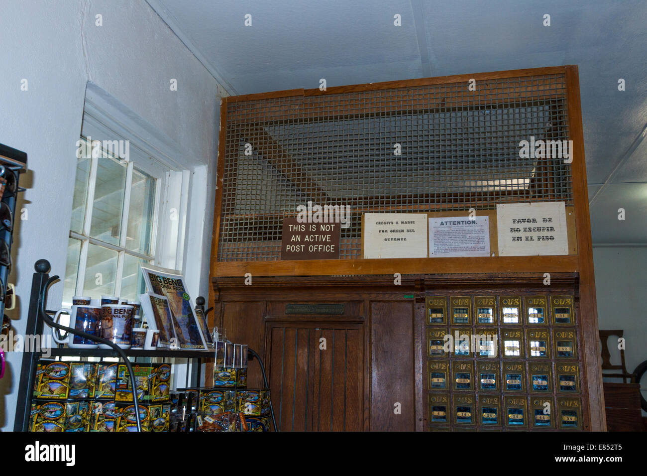 Historic old Post Office at Castolon Historic District in Big Bend National Park. Stock Photo