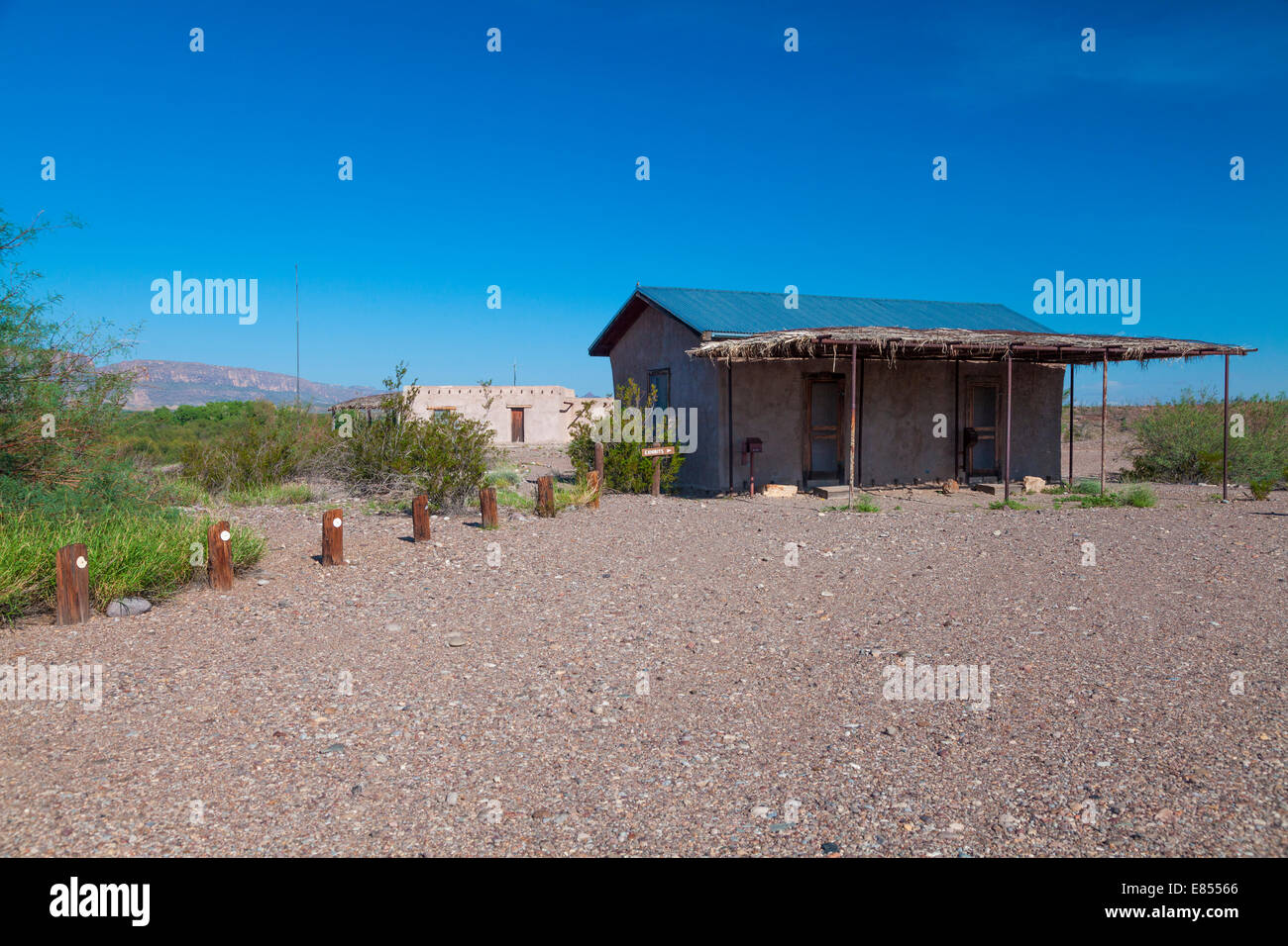 Museum at Castolon Historic District in Big Bend National Park. Stock Photo