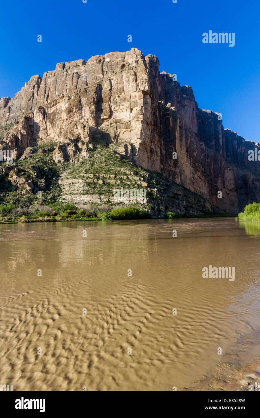 Santa Elena Canyon on the Rio Grande River in Big Bend National Park. Stock Photo