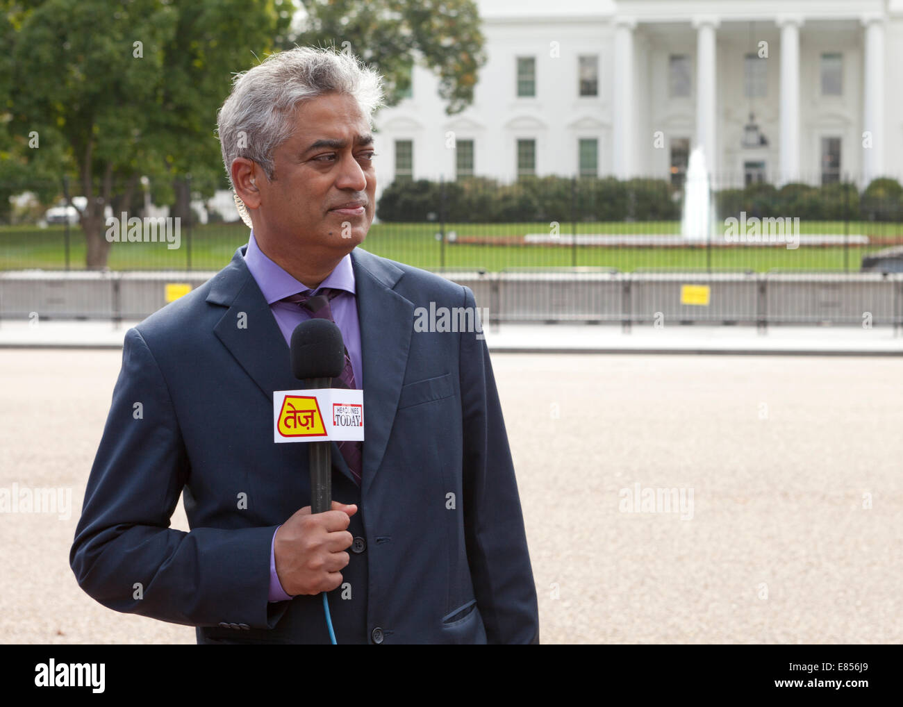 News reporter of Indian decent - USA - Stock Image