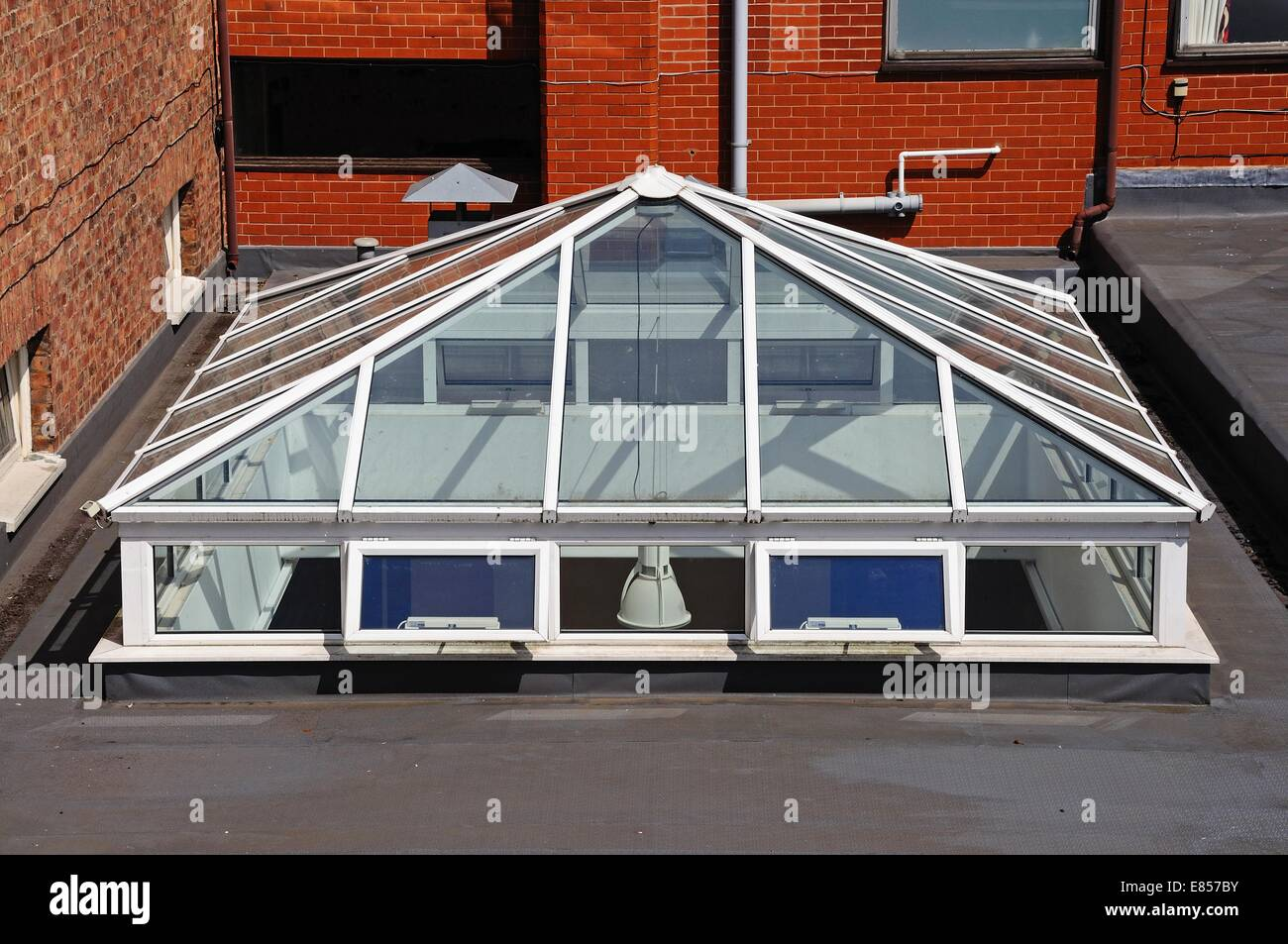 glass rooftop skylight on a city centre building chester cheshire stock photo 73874303 alamy