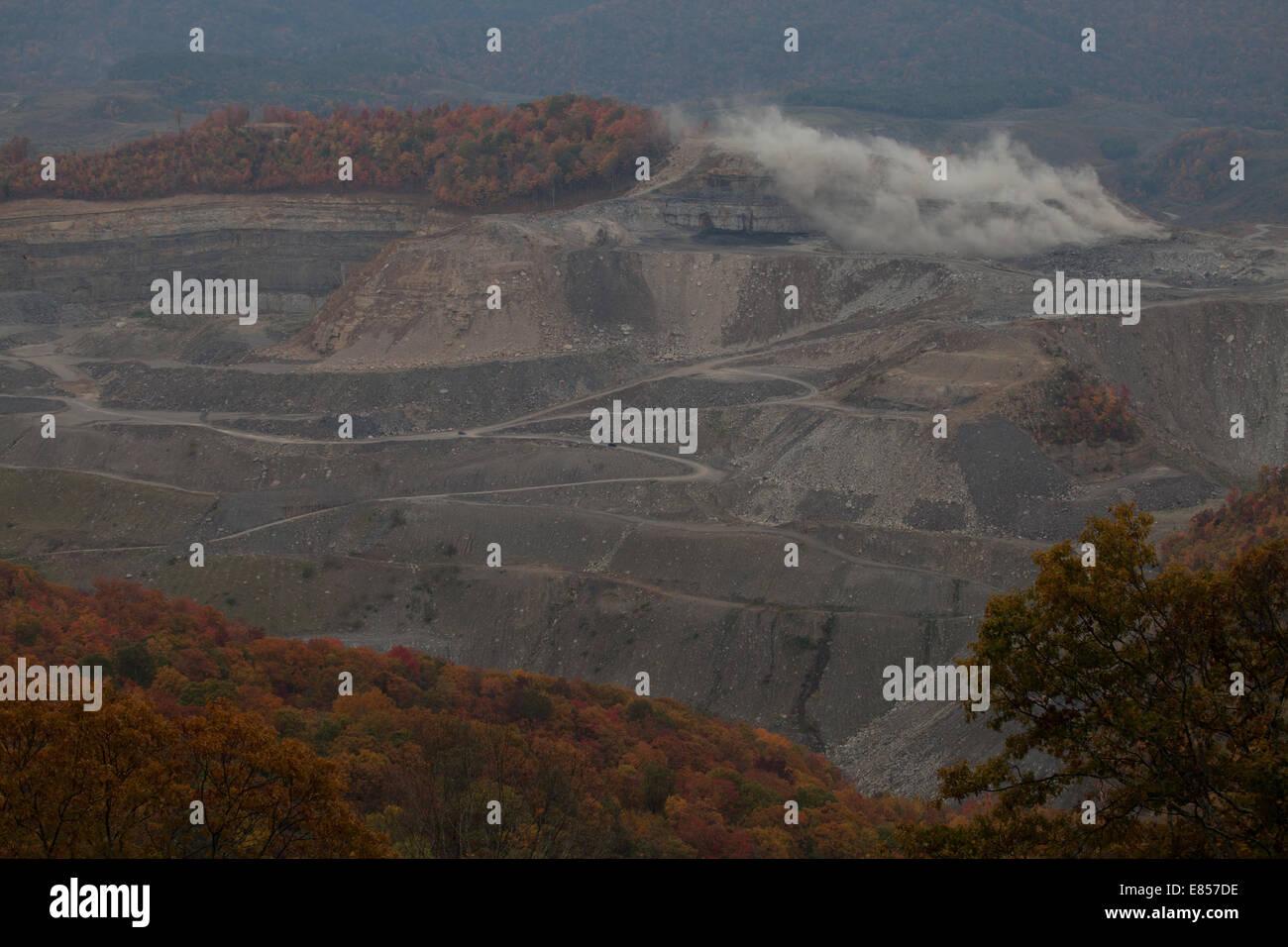 Mountaintop Removal appalachia - Stock Image