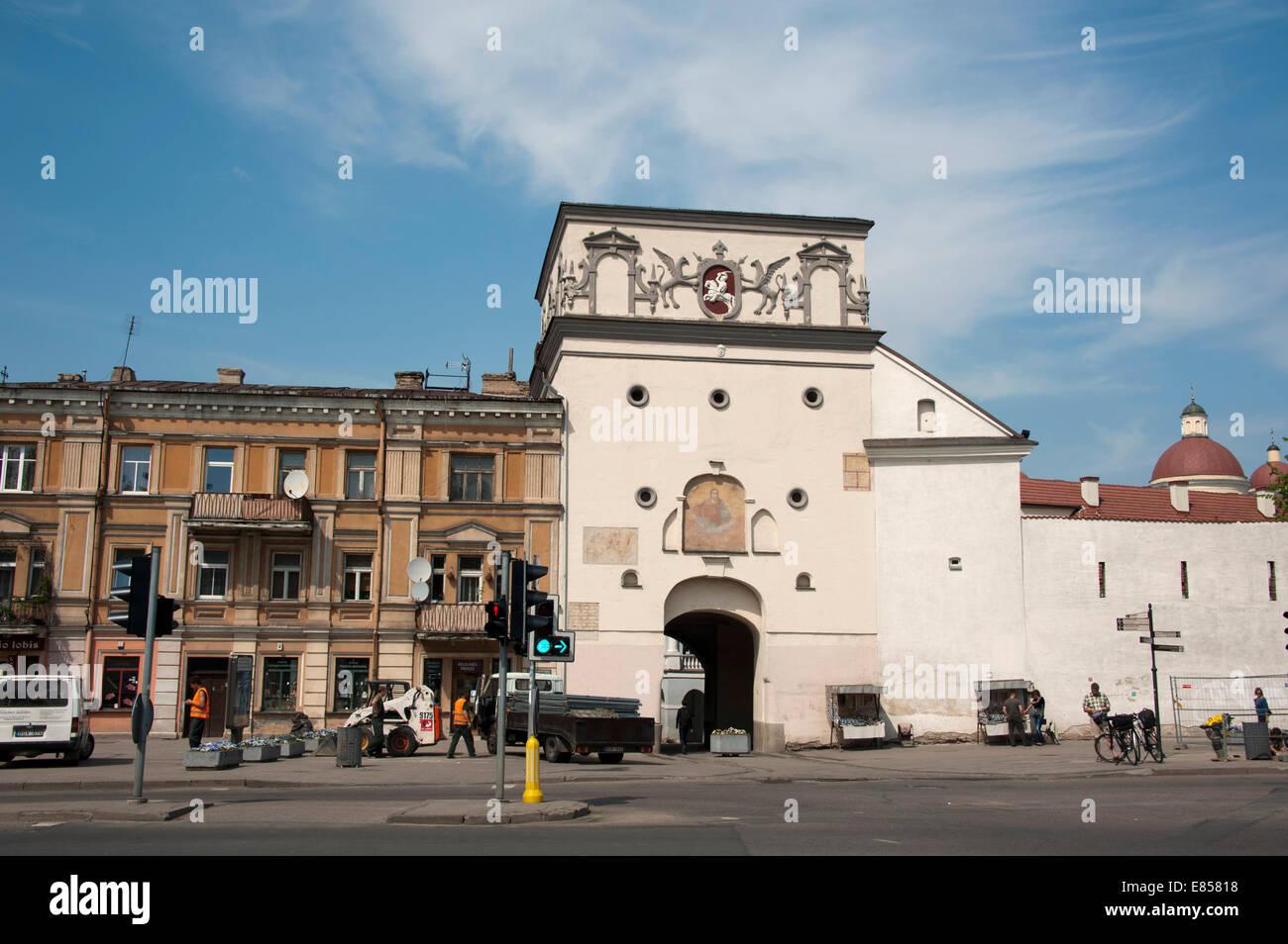 Gate of Dawn, Aušros Vartai, Vilnius, Lithuania, Baltic States Stock Photo