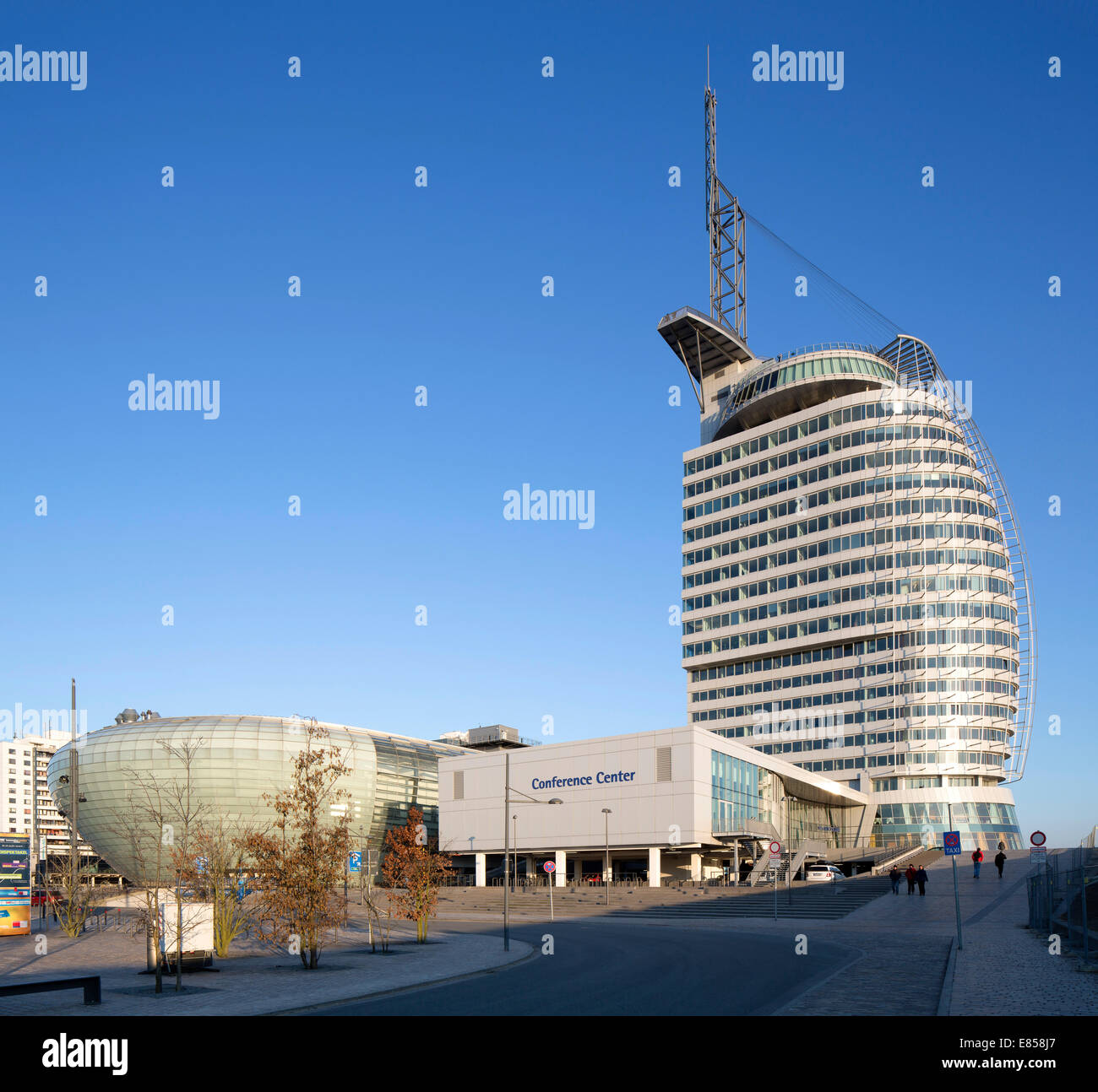 Atlantic Hotel Sail City, Klimahaus Bremerhaven, Conference Center, Havenwelten, Bremerhaven, Bremen, Germany - Stock Image