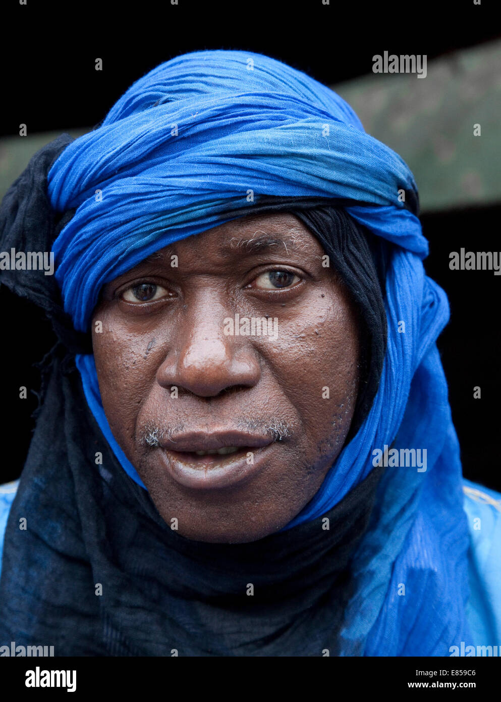 African Man Nomad from Mauritania.North Africa - Stock Image