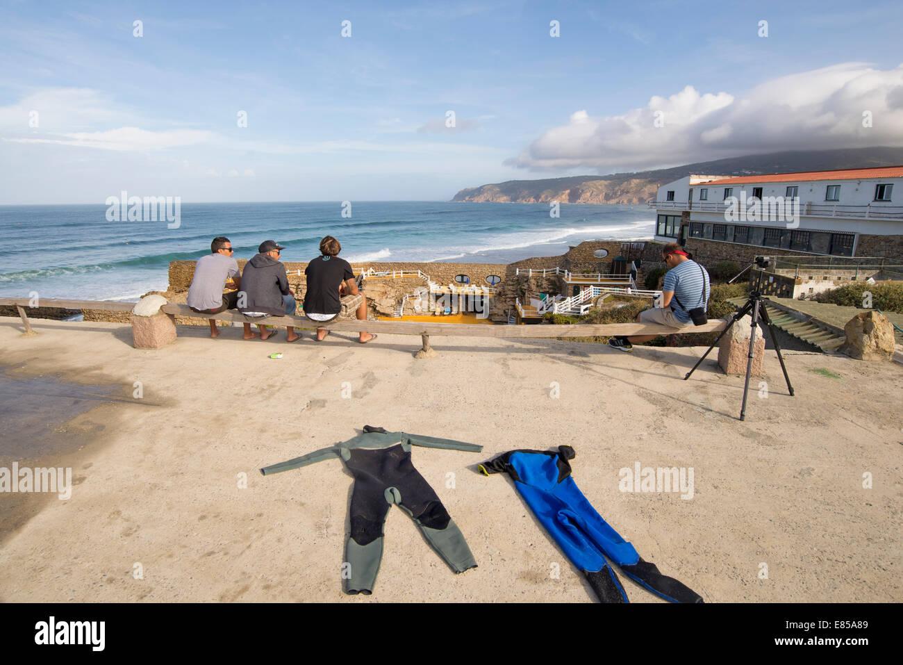 Guincho Beach in summer, Cascais, Lisbon, Portugal Stock Photo