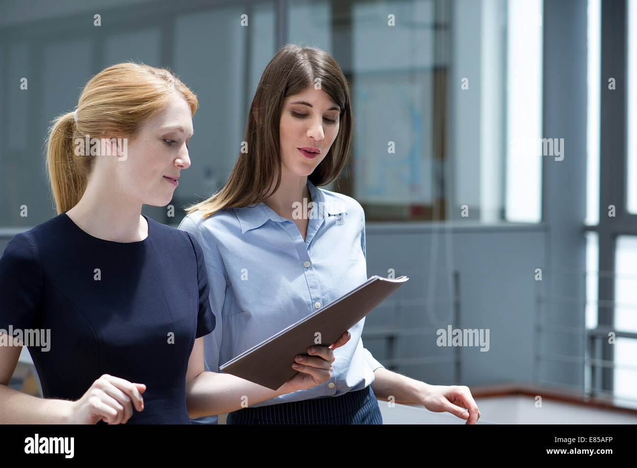 Businesswomen collaborating - Stock Image