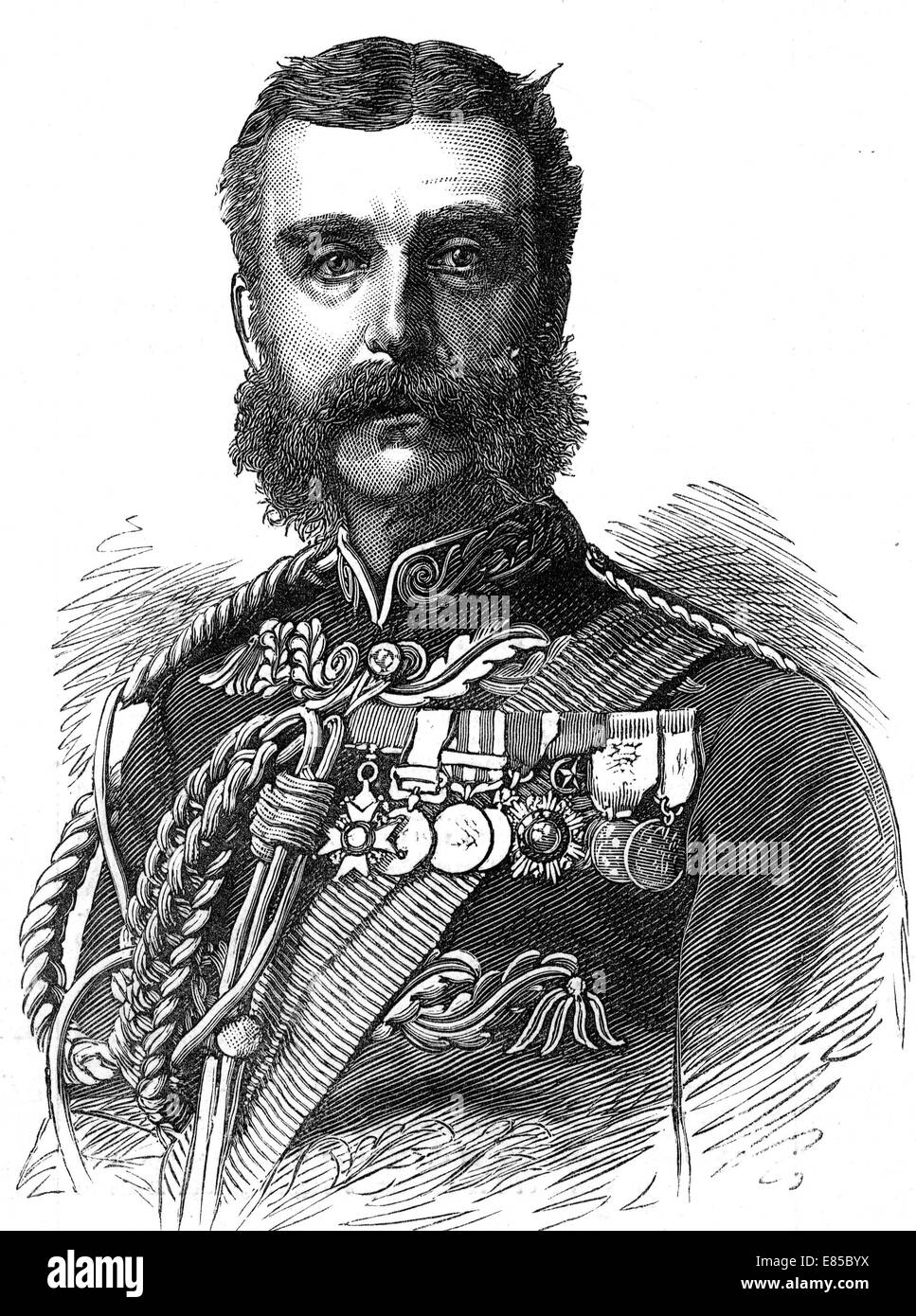 FREDERIC THESIGER, 2nd BARON CHELMSFORD (1827-1905) As Lord Chelmsford about 1879 - Stock Image