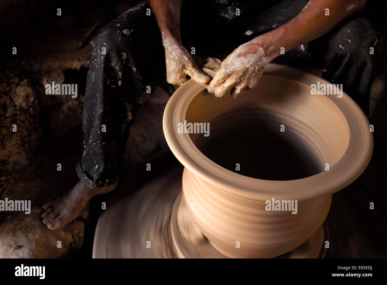 Handmade pottery - Stock Image