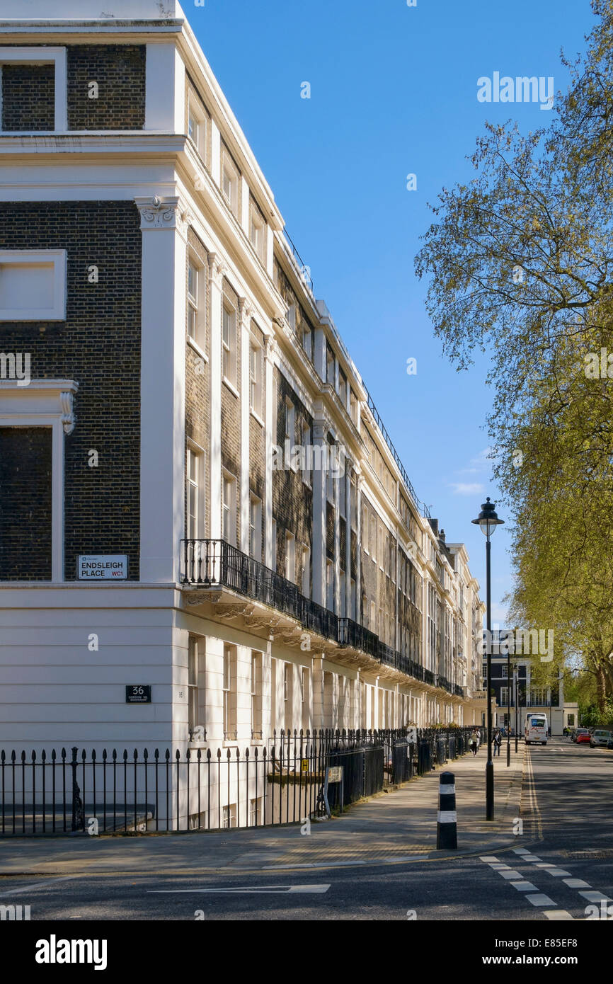 Corner of Endsleigh Place and Gordon Square Bloomsbury London UK - Stock Image