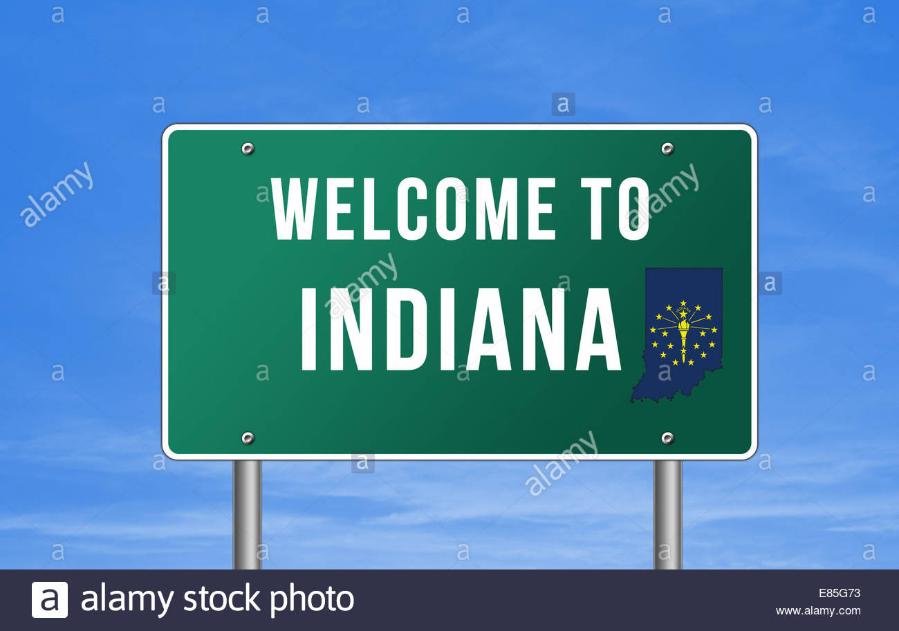 Welcome to Indiana - Stock Image