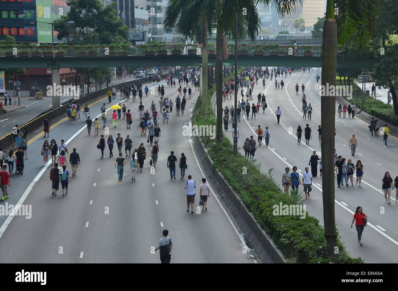 Hong Kong. 1st October, 2014. On Wednesday 1st October 2014, during a public holiday to mark the 65th anniversary Stock Photo