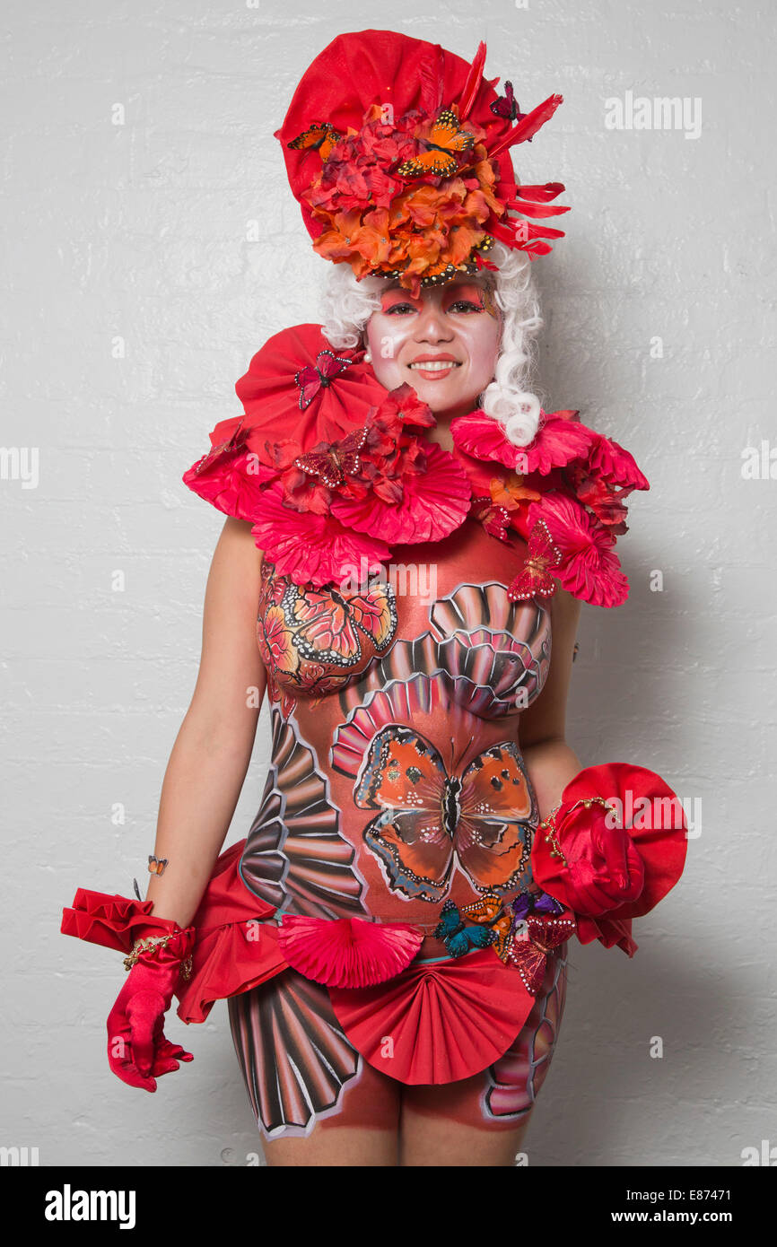 Metropolis Themed Art Of Body Painting Competition At The Olympia Stock Photo Alamy